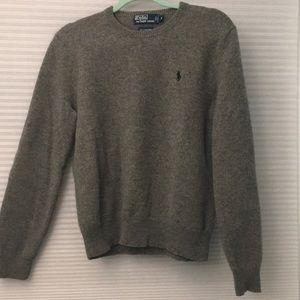 Polo men's 100% lambs wool sweater